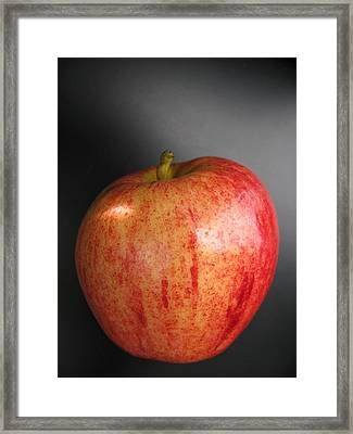 Framed Print featuring the photograph Apple by Lindie Racz