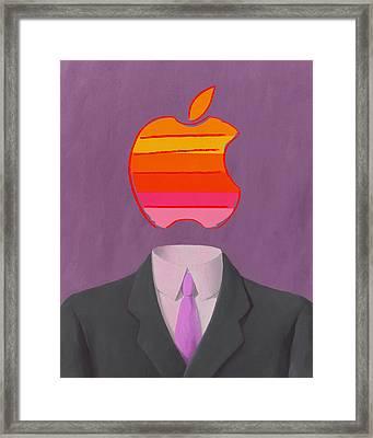 Apple-man-2 Framed Print