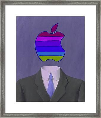 Apple-man-4 Framed Print