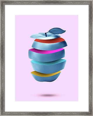 new York  apple Framed Print