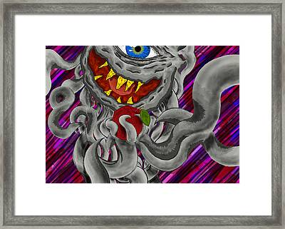 Apple Of My Eye Aka Apple Guy Framed Print