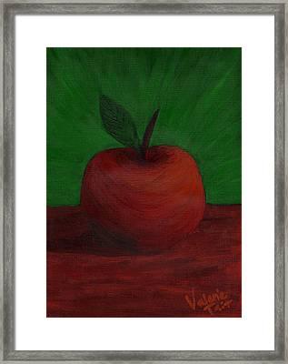 Apple Of My Eye Framed Print by Valerie Tait