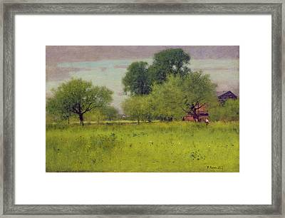 Apple Orchard Framed Print by George Snr Inness