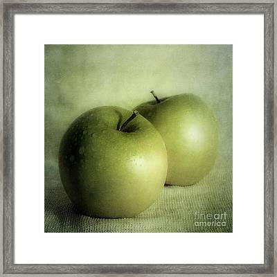 Apple Painting Framed Print by Priska Wettstein