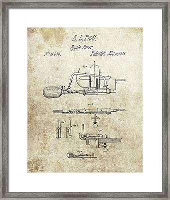 Apple Parer Patent Framed Print