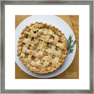 Apple Pie Square Framed Print by Edward Fielding