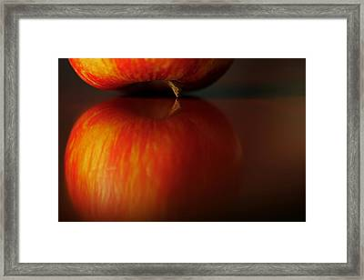 Apple Reflection Framed Print