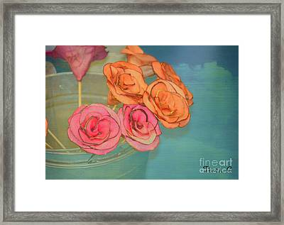 Framed Print featuring the photograph Apple Roses by Traci Cottingham