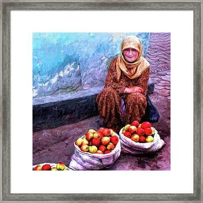 Apple Seller Framed Print by Dominic Piperata