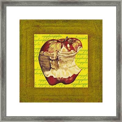 Apple Series Number Five Framed Print by Sonja Olson