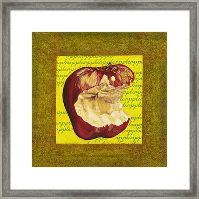 Apple Series Number Four Framed Print by Sonja Olson