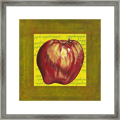 Apple Series Number One Framed Print by Sonja Olson