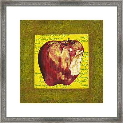 Apple Series Number Two Framed Print by Sonja Olson