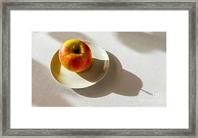 Apple Shadow Framed Print
