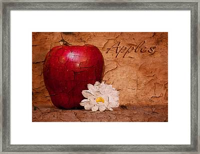 Apple With Daisy Framed Print