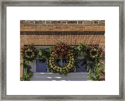 Apple Wreaths At The George Wythe House Framed Print by Teresa Mucha