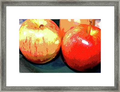 Apples Abstract 1 Framed Print by Linda Brody