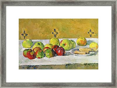 Apples And Biscuits Framed Print