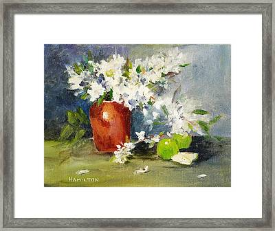 Apples And Blossoms Framed Print