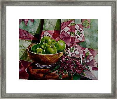Apples And Heather Framed Print