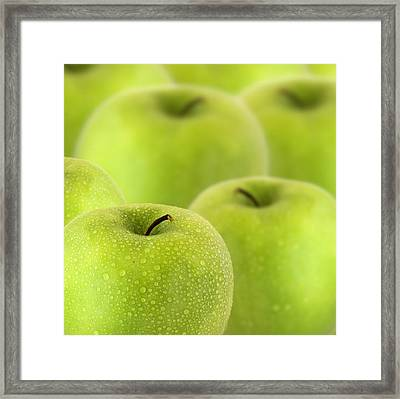 Apples Framed Print by D Plinth