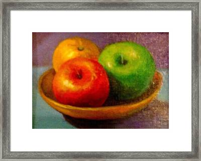 Apples Framed Print by Eun Yun