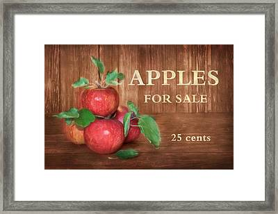 Apples For Sale Framed Print by Lori Deiter