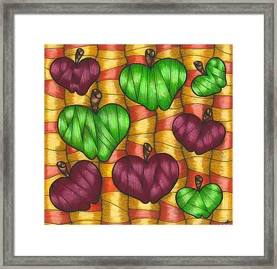 Apples Framed Print by Hilda Tovar