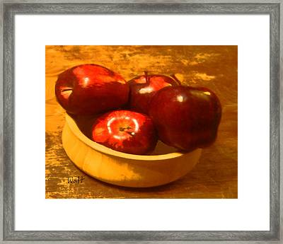 Apples In A Bowl Framed Print
