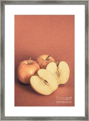 Apples In Autumn Framed Print