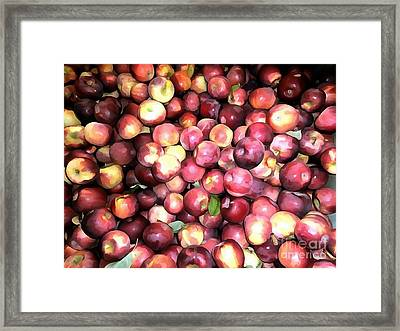 Apples Framed Print by Janine Riley