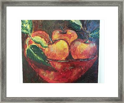 Apples Framed Print by Karla Phlypo-Price