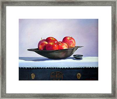 Apples Framed Print by Marie Dunkley