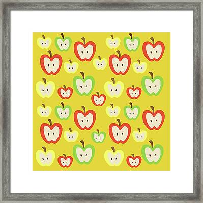 Apples Framed Print by Nicole Wilson