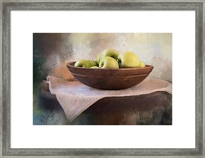 Framed Print featuring the photograph Apples by Robin-Lee Vieira