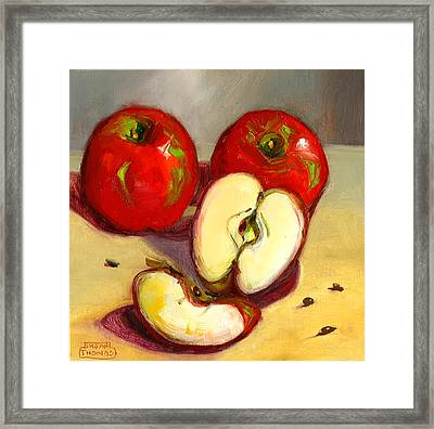 Apples Framed Print by Susan Thomas