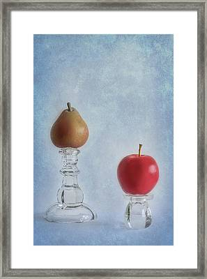 Apples To Pears Framed Print