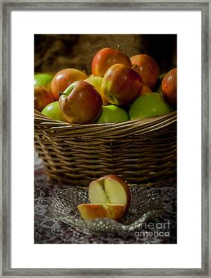 Apples To Share Framed Print