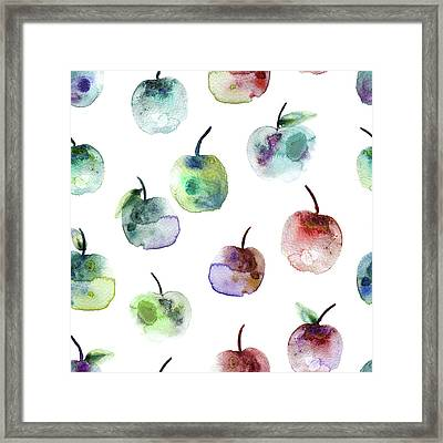 Apples Framed Print by Varpu Kronholm