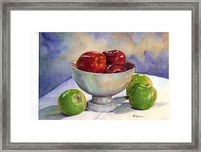 Apples - Yum Framed Print