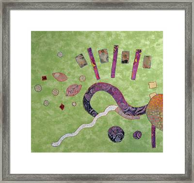 Applique 1 Framed Print by Eileen Hale