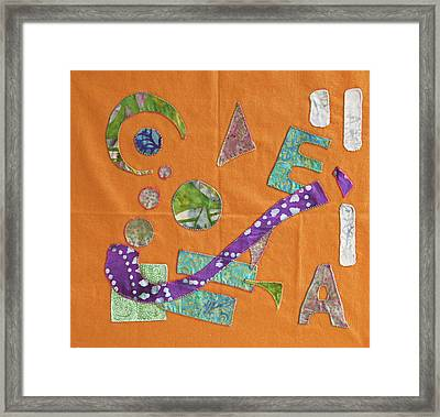 Applique 10 Framed Print by Eileen Hale