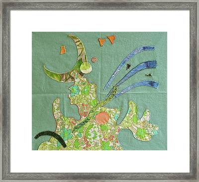 Applique 11 Framed Print by Eileen Hale