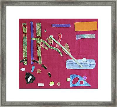 Applique 12 Framed Print by Eileen Hale
