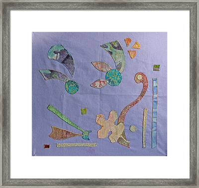 Applique 3 Framed Print by Eileen Hale