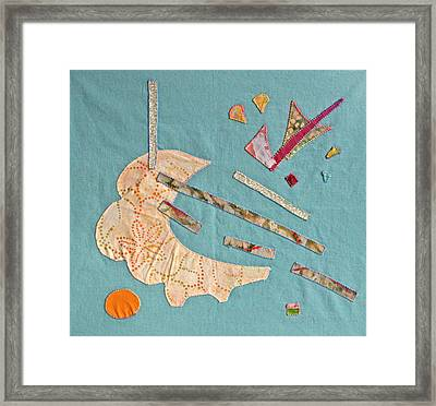 Applique 4 Framed Print by Eileen Hale