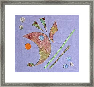 Applique 5 Framed Print by Eileen Hale