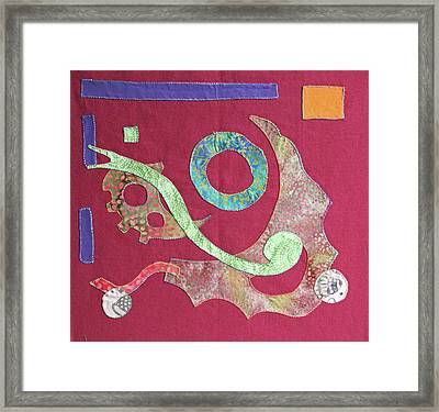 Applique 6 Framed Print by Eileen Hale