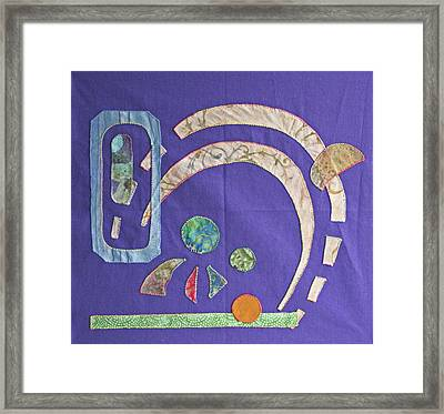 Applique 8 Framed Print by Eileen Hale