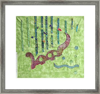 Applique 9 Framed Print by Eileen Hale